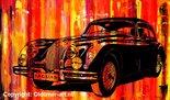 Oldtimer painting, Jaguar