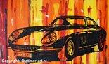 Oldtimer painting: Ferrari