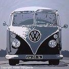 Pop art schilderij: VW T1