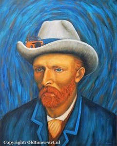 Oldtimer-art painting: Bulli follows Van Gogh