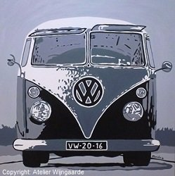 Pop art schilderij: VW T1